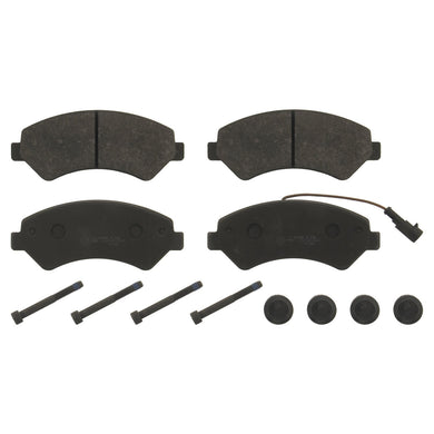 Front Brake Pad Set Inc Additional Parts Fits FIAT Ducato Febi 16840 - CLEARANCE