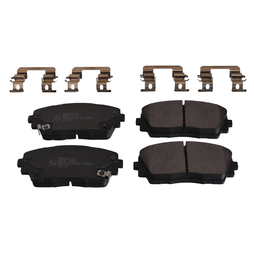 Front Brake Pad Set Inc Additional Parts Fits KIA Morning P Blue Print ADG042131