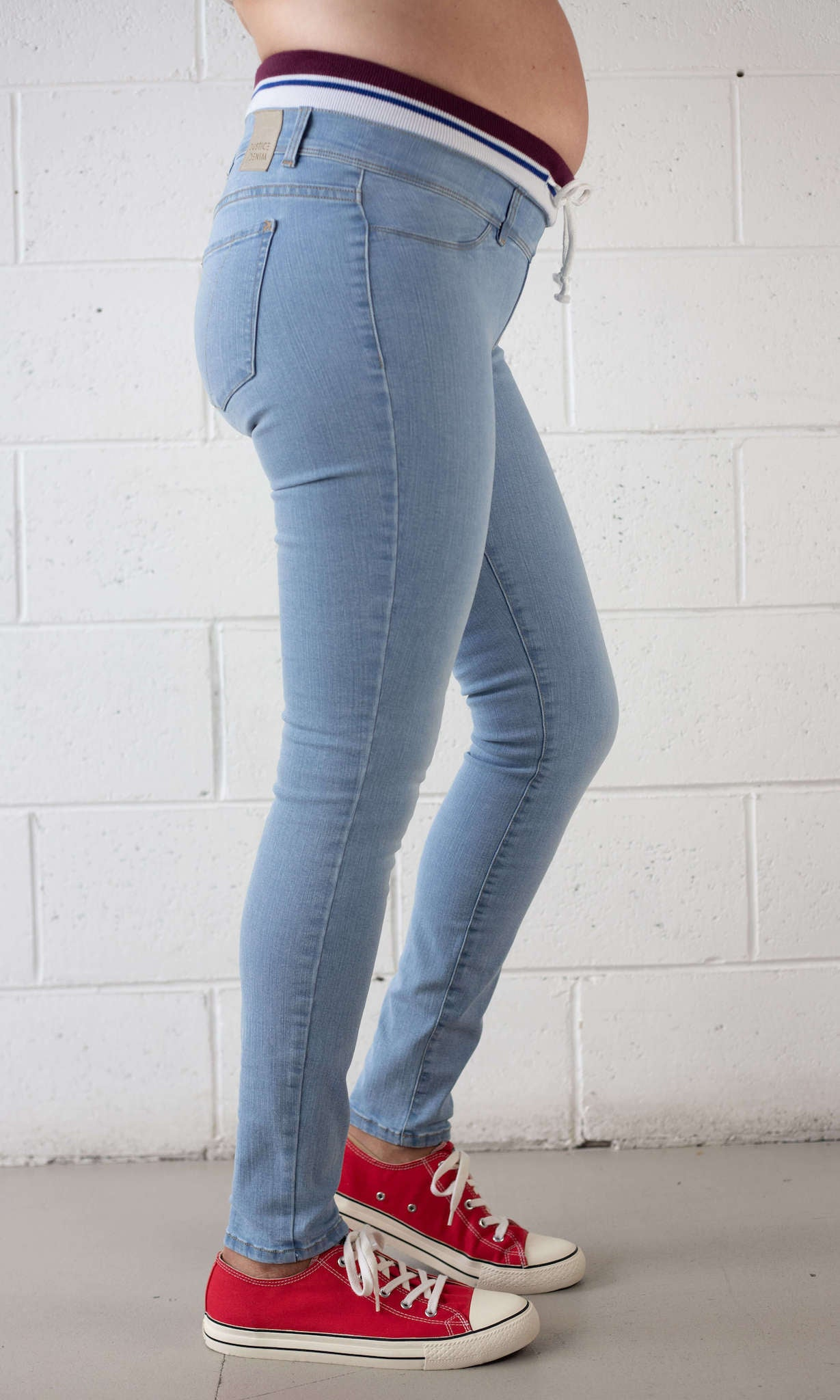 Maternity Super Stretch Underbelly Skinny Leg Denim Jean