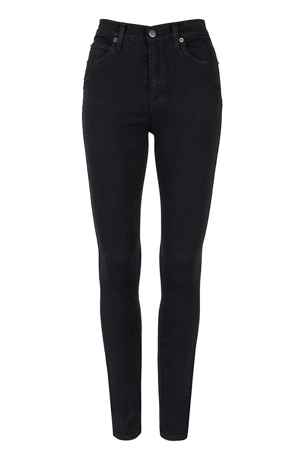 Liberty High Waist Skinny Leg Jean - Black