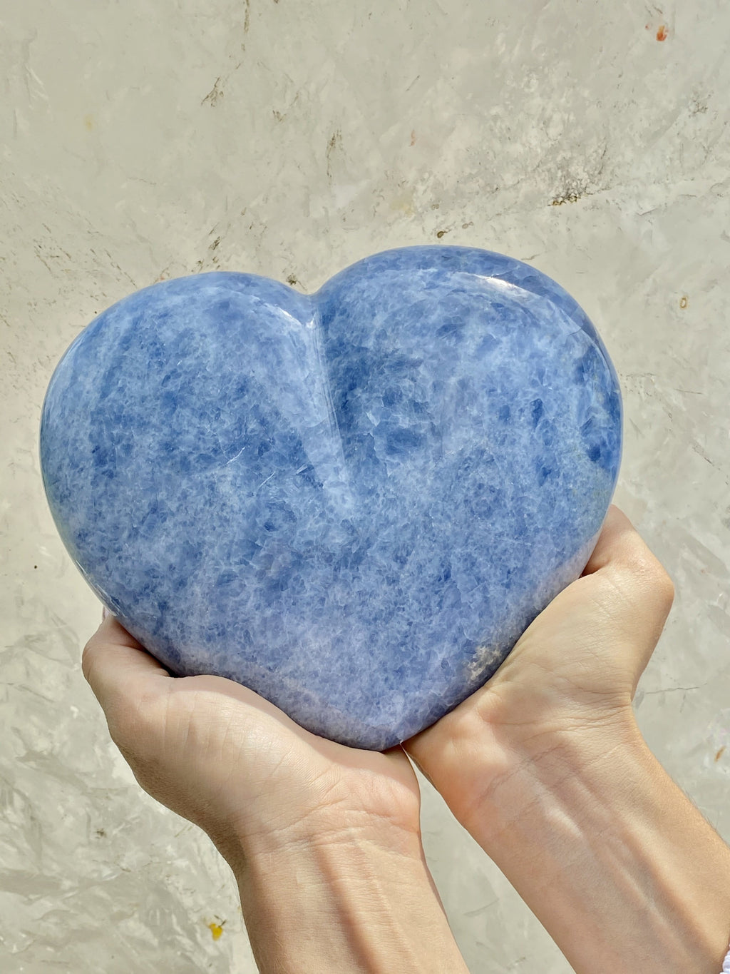 The Blue Calcite Serenity Heart
