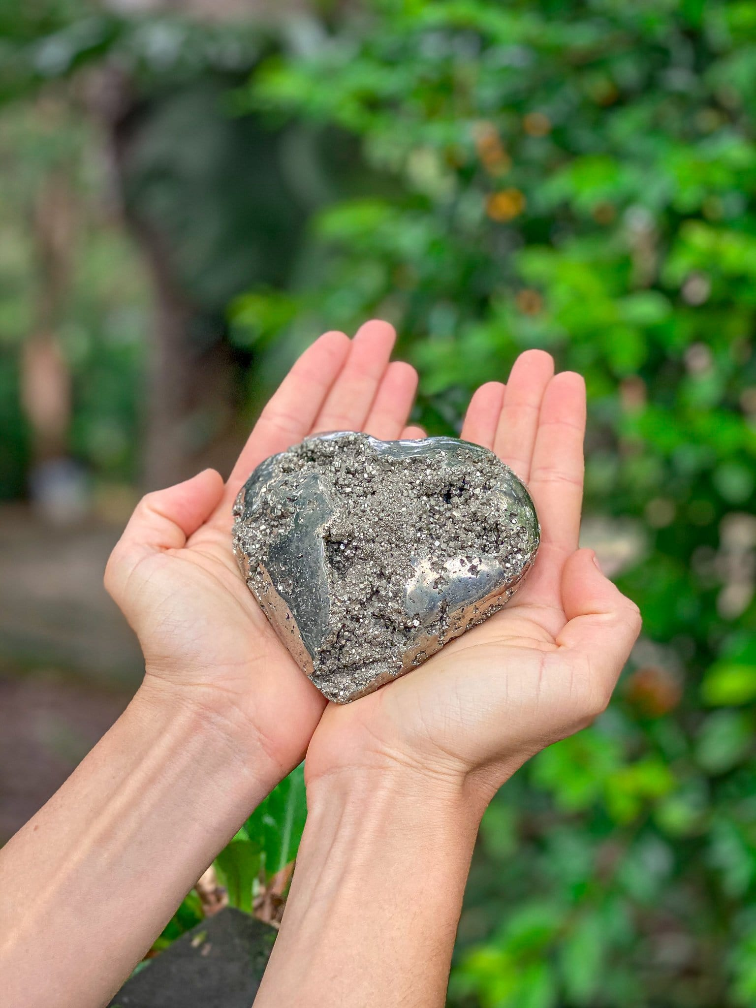 Pyrite Power Hearts