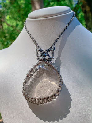 Smoky Quartz with Hematite Necklace