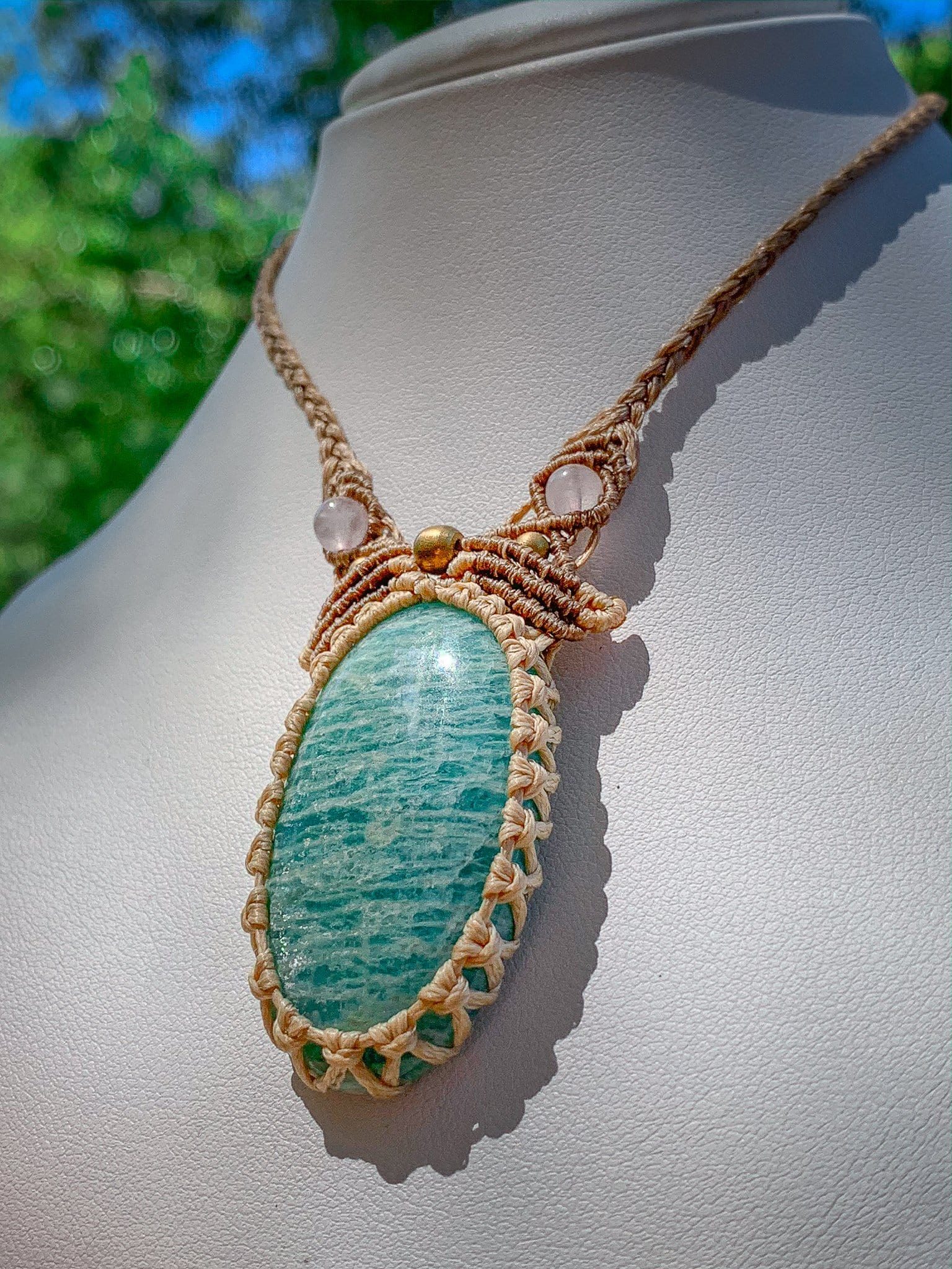 Amazonite & Rose Quartz Necklace