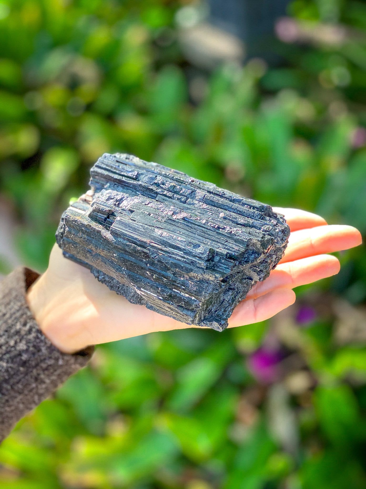 Purifying Black Tourmaline Chunk