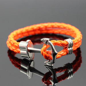 MVP$ Handmade Leather Anchor Bracelet - more coloursAccessories - Most Valuable Playa