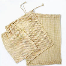 Load image into Gallery viewer, Cotton Mesh Produce Bags (Pack of 3)