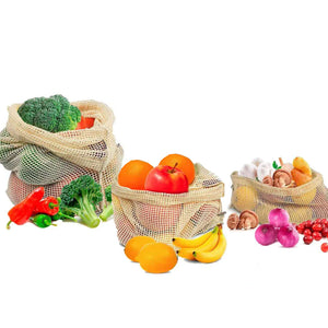 Cotton Mesh Produce Bags (Pack of 3)