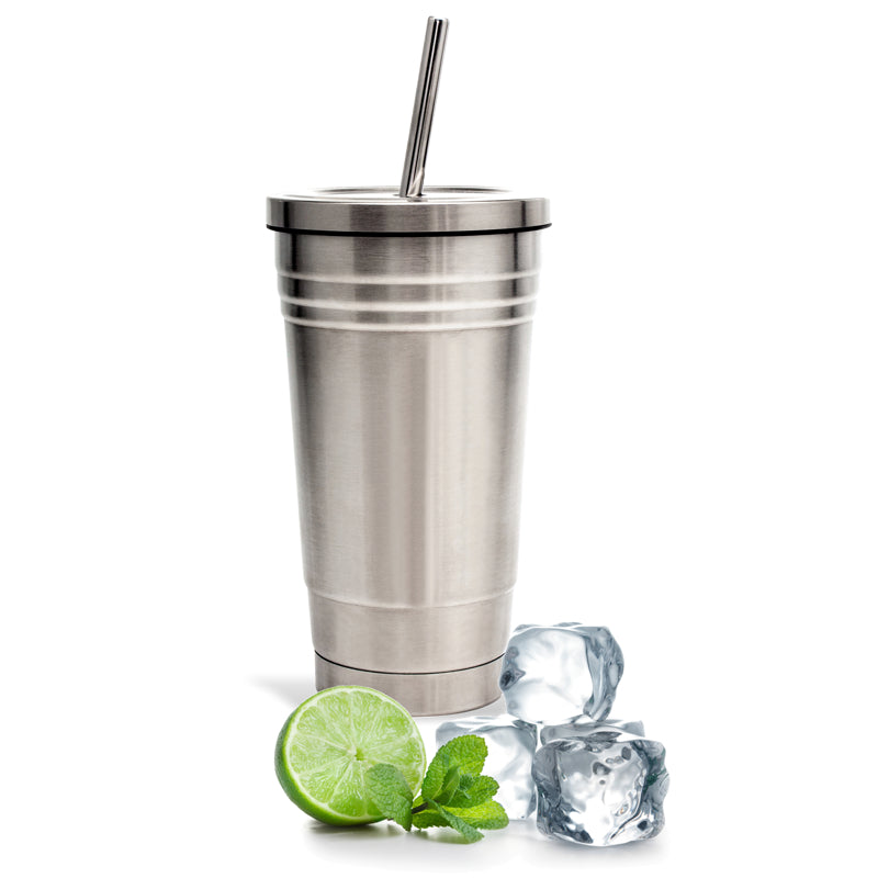 Double Walled Tumbler and Straw