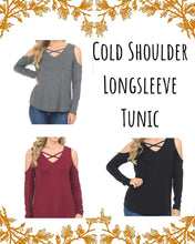 Load image into Gallery viewer, Breezy Cold Shoulder Longsleeve