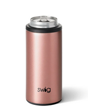 Load image into Gallery viewer, Shimmer Rose Gold Skinny Can Cooler