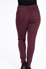 Load image into Gallery viewer, Maroon High Rise KanCan Skinny Jeans