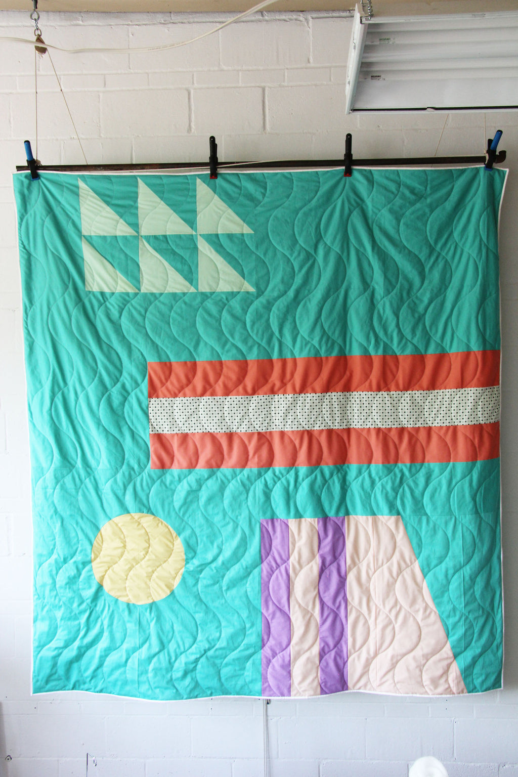 Double bed size quilt - Summer wave model