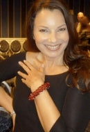 Actress Fran Dresher in Fire Red Sky Bracelet