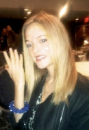 Actress Heather Graham in Lapis Sky Bracelet