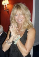 Actress Goldie Hawn in Jade Green Bracelet Sky Bracelet