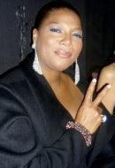 Actress Queen Latifah in Leopard Sky Bracelet