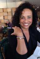 Acress Rae Dawn Chong in Cobalt Benefit Bracelet Set