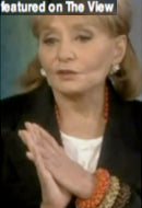 Journalist Barbara Walters in Orange Crush, Butterscotch and Cocoa