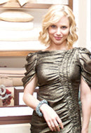 Actress Cara Buono in Heather Grey Sky Bracelet