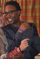 Tony Winner Billy Porter in Blueberry Prosperity Bracelet