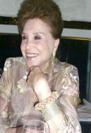 Columnist Cindy Adams in French Vanilla Sky Bracelet