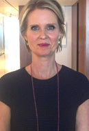 Actress Cynthia Nixon in Gemstone Necklace