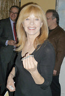 Actress Francis Fisher in Titanium Prosperity Bracelet