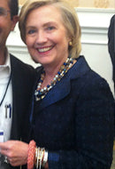 Hillary Clinton in Coral Sands Sky Bracelet