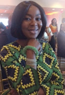 Founder-President of the Wellbeing Foundation Africa, Her Excellency Toyin Ojora Saraki in Celadon Sky Bracelet