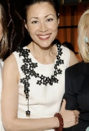 Journalist Ann Curry in Fire Red Sky Bracelet