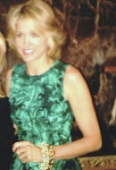 Journalist Paula Zahn in Jade Green Sky Bracelet