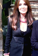 TV Personality Lisa Vanderpump in Honeysuckle Sky Necklace