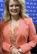 Entertainment Tonight Mary Hart in Coral Sands Sky Bracelet