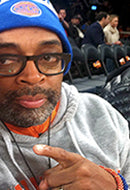 Director Spike Lee in Cayenne and Blue Velvet Prosperity Bracelets