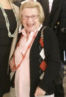 Media Personality/Sex Therapist Dr. Ruth Westheimer in Orange Crush Hope Necklace