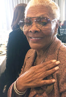 Singer Dionne Warwick in the Peace Bracelet