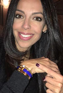 Investigative Journalist Lisa Daftari in Gold Standard Bracelet