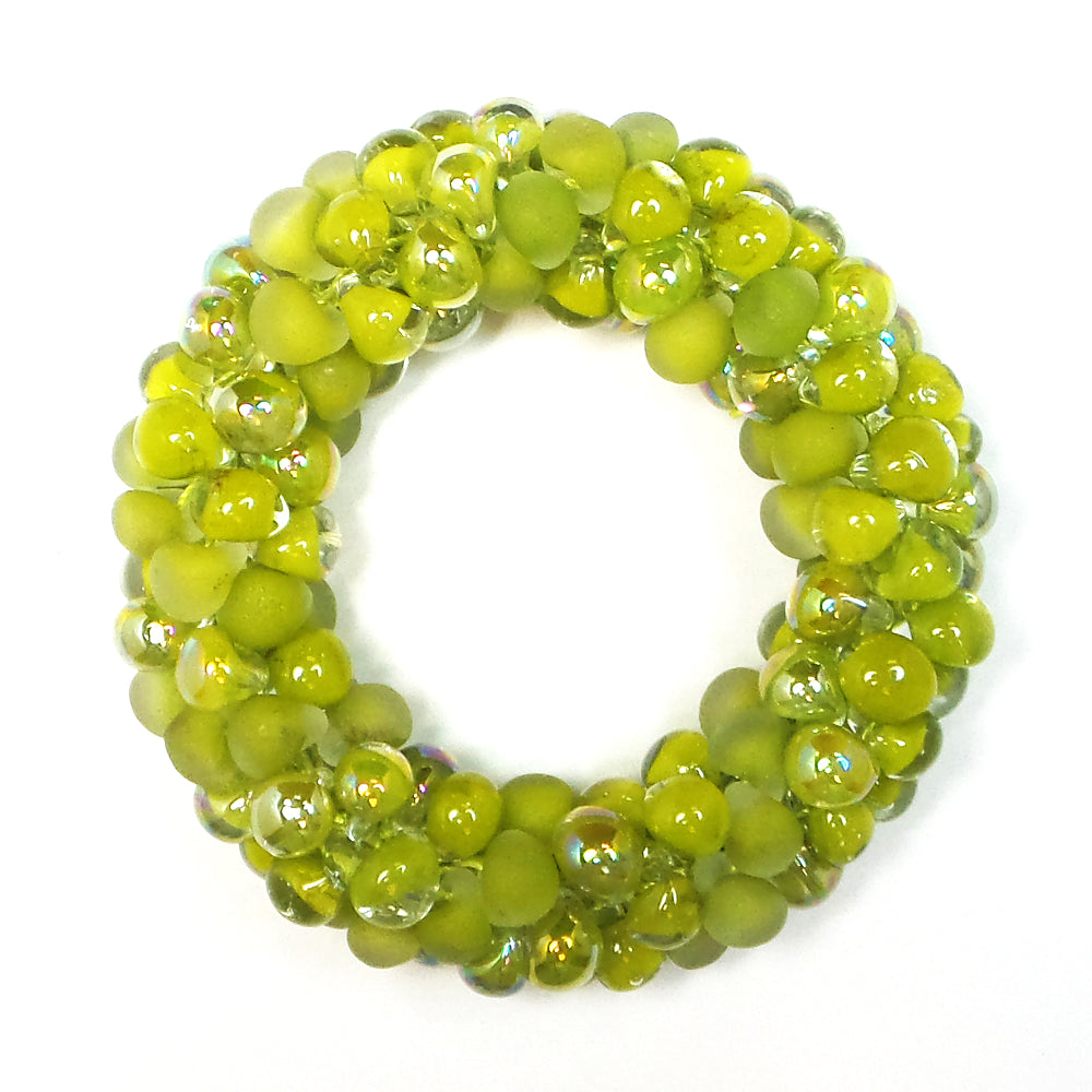 Lime Sea Glass Sky Bracelet