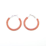 Destiny Cinnamon Hoop Earrings