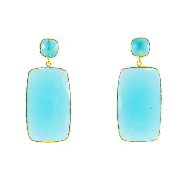 Amazonite Prism Earrings