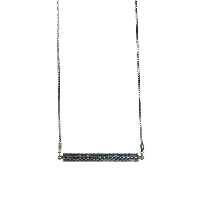 Bar Necklace in Signature Gunmetal from the Destiny Collection