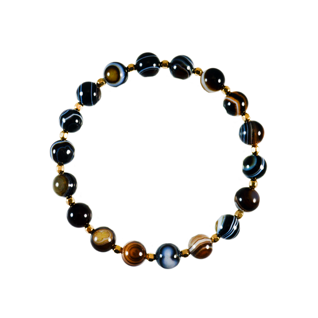 Black Agate Elements Bracelet