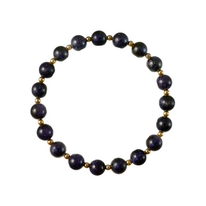 Blue Goldstone Elements Bracelet
