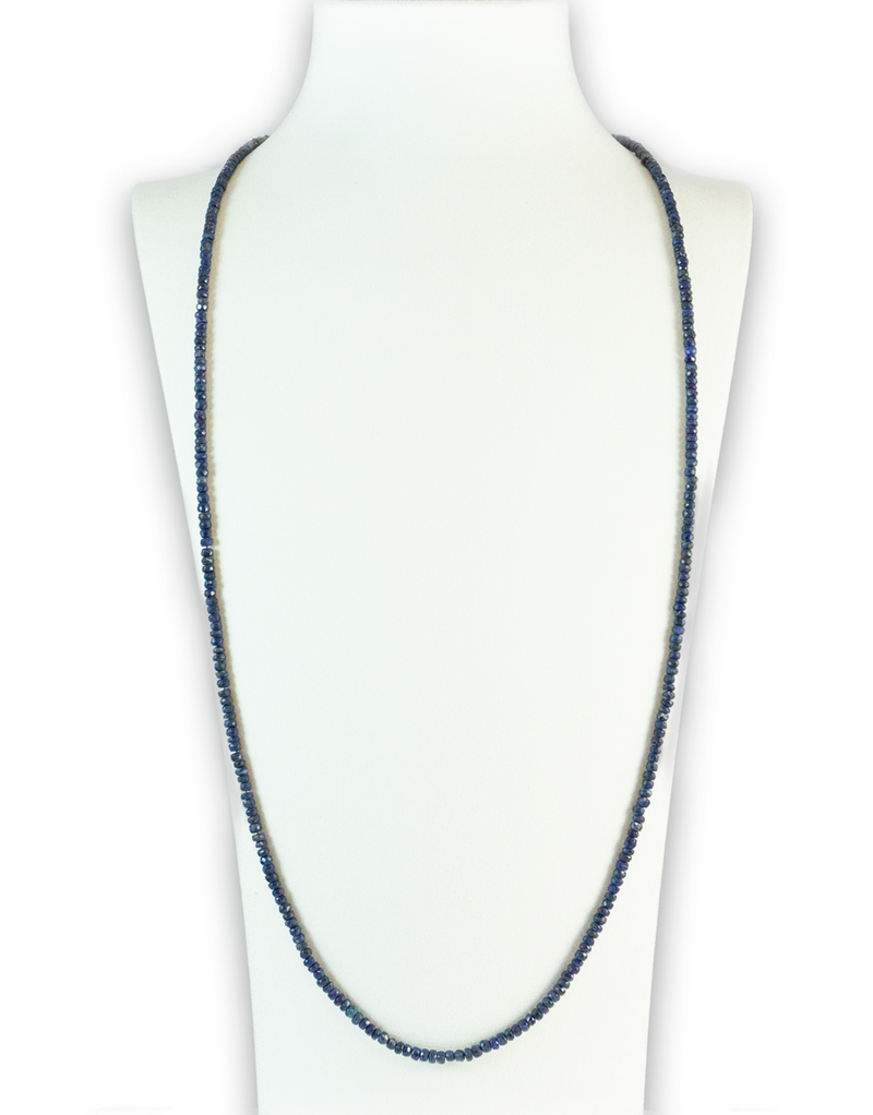 Blue Sapphire Brilliant Gemstone Necklace