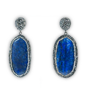 Crystal Lapis Earrings