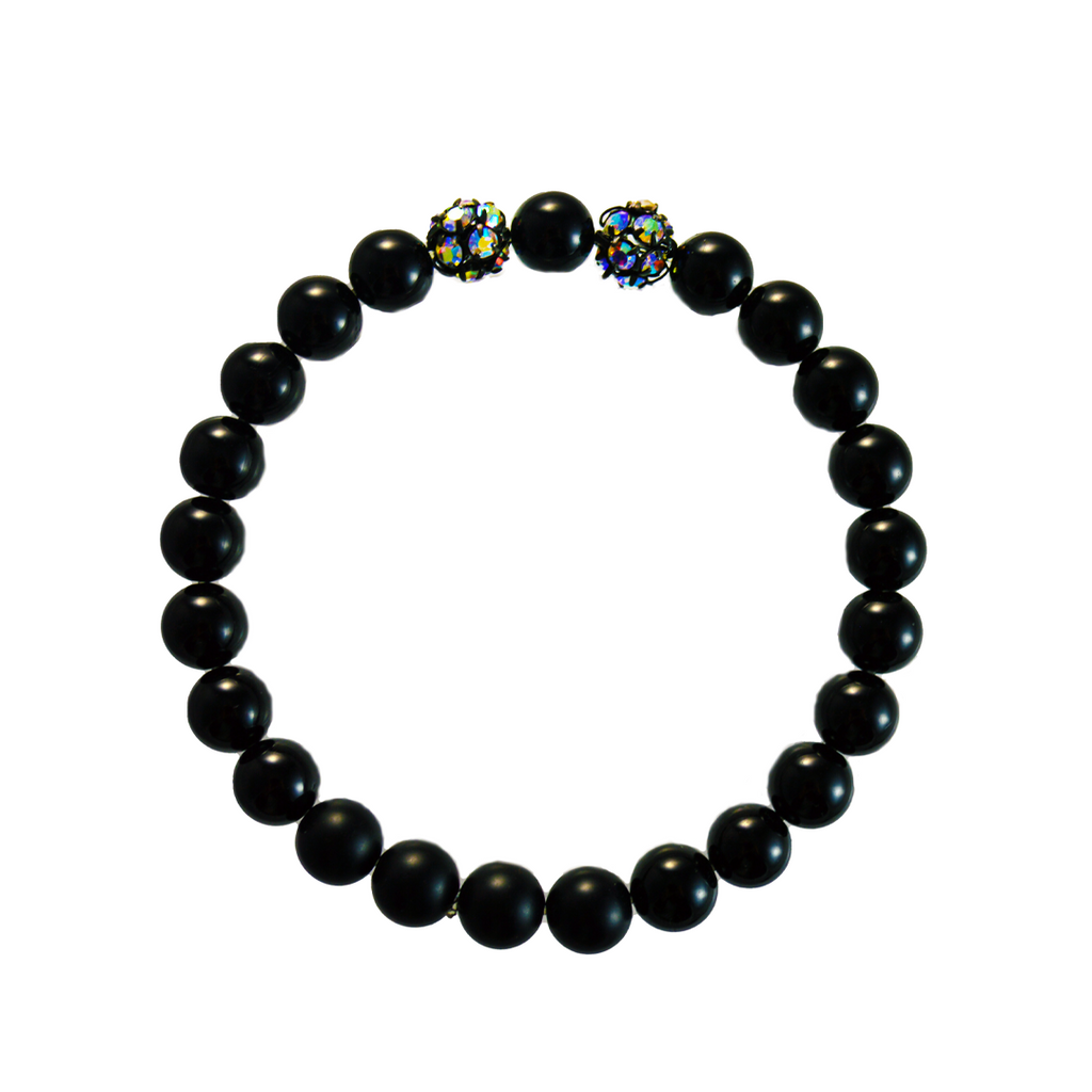 Crystal + Onyx Elements Bracelet
