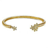 Diamond Daisy Cuff in Gold from the Destiny Collection