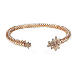 Diamond Daisy Cuff in Rose Gold from the Destiny Collection