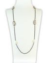 Abalone & Luminous Pearl Gemstone Necklace